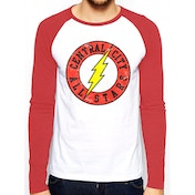 The Flash - All Stars Men's Small Baseball T-Shirt - White