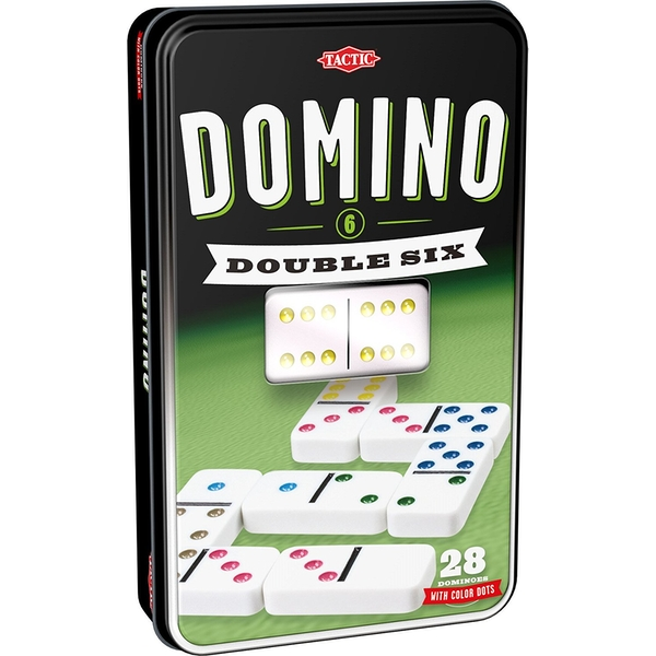 Double 6 Domino Tin Board Game - Image 1