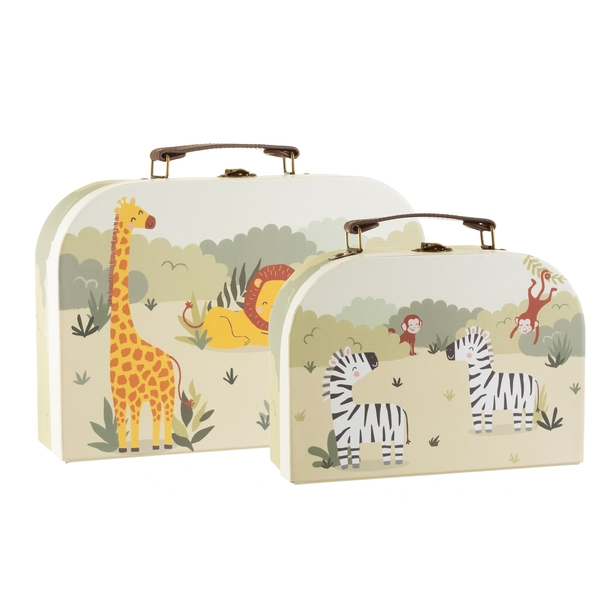 Sass & Belle Set of 2 Savannah Safari Suitcases