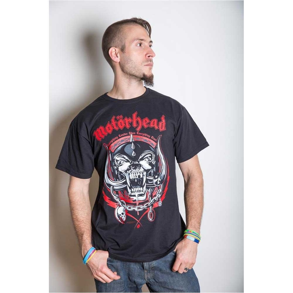 Motorhead - Lightning Wreath Unisex Medium T-Shirt - Black