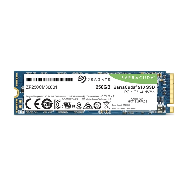 Seagate BarraCuda 510 250GB M.2 2280 NVMe PCIe