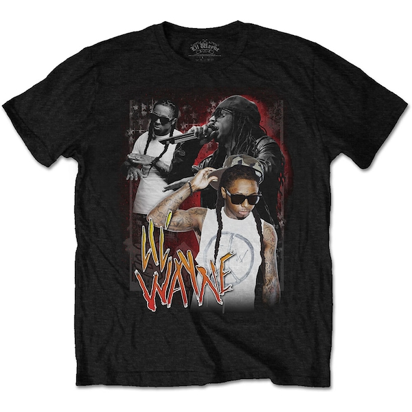 Lil Wayne - 90s Homage Unisex Small T-Shirt - Black