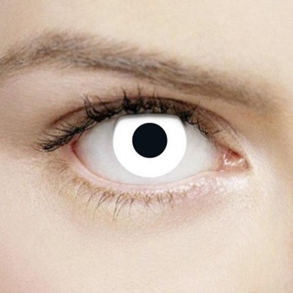 White Out 1 Day Halloween Coloured Contact Lenses (MesmerEyez XtremeEyez) - Image 1