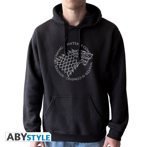 Game Of Thrones - Stark Hoodie - Black