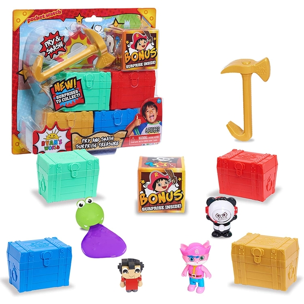 Ryan's World - Pry & Surprise Pirate Lockers (1 At Random)
