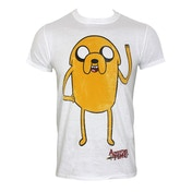 Adventure Time Jake Waving T-Shirt Large White