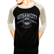 Dc Originals - Gotham Basketball Men's Large Baseball T-Shirt - Black