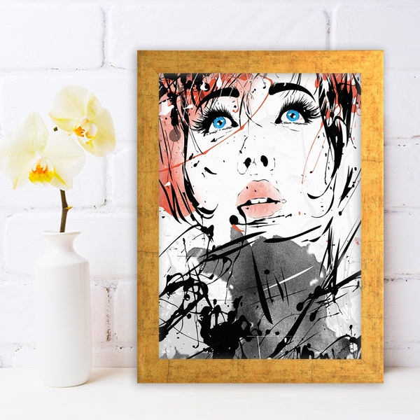 AC848730966 Multicolor Decorative Framed MDF Painting