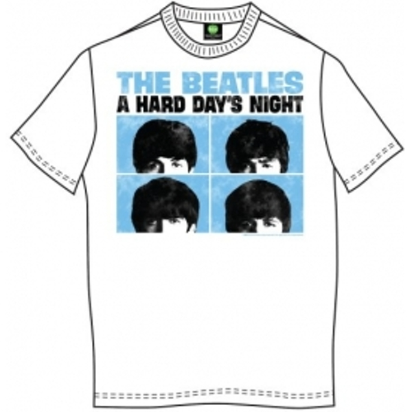 The Beatles HDN Pastel White Mens T Shirt: X Large