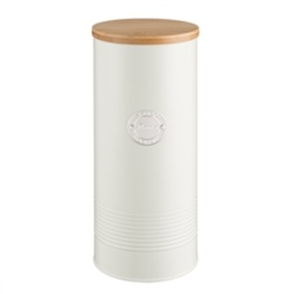 Typhoon Living Pasta Storage Canister Bamboo Lid 2.5 Litre Cream