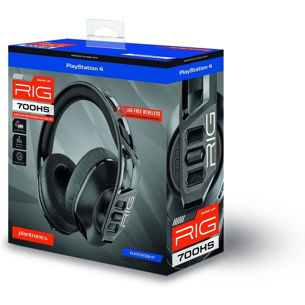Black Nacon RIG 700HS Wireless Gaming Headset for PS5 & PS4
