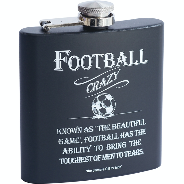 Ultimate Gift for Man Hip Flask Football