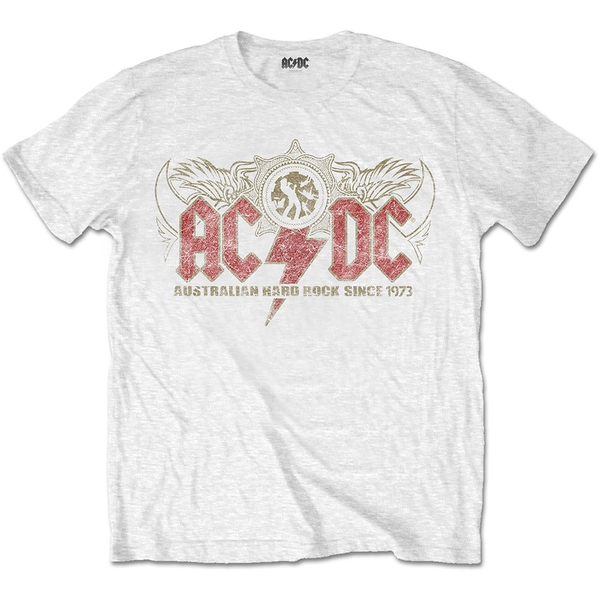 AC/DC - Oz Rock Men's Medium T-Shirt - White