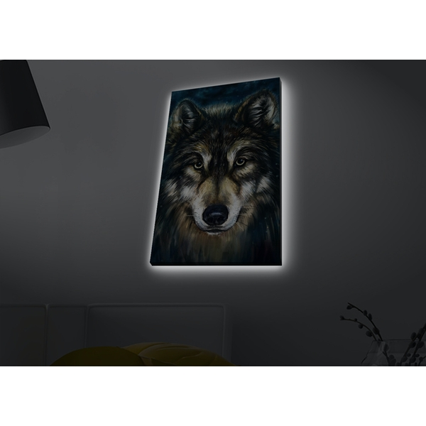 4570MDACT-055 Multicolor Decorative Led Lighted Canvas Painting