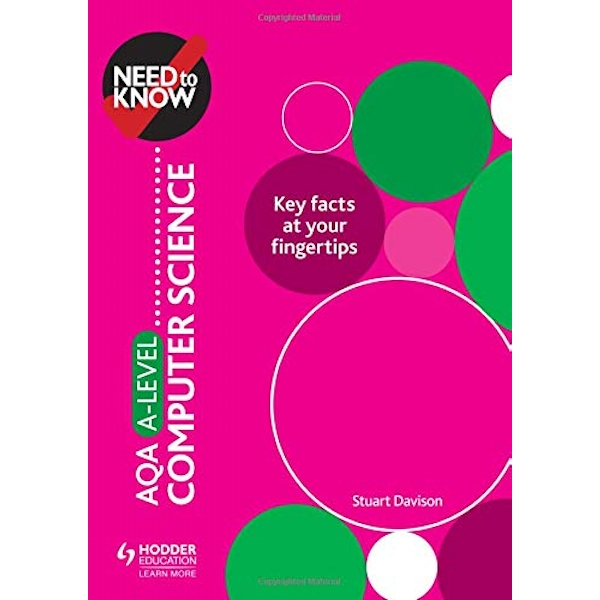 Need to Know: AQA A-level Computer Science  Paperback / softback 2018