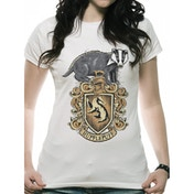 Harry Potter - Hufflepuff Women's Large T-Shirt - White