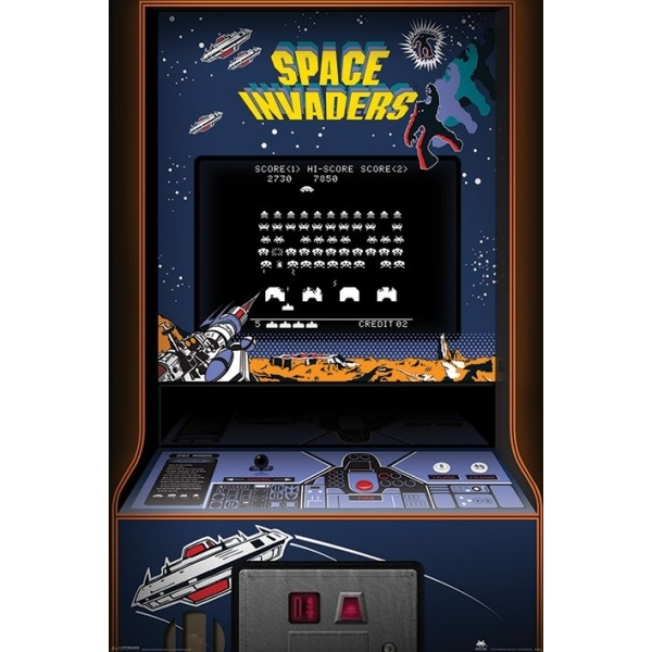 Space Invaders - Arcade Cabinet Maxi Poster
