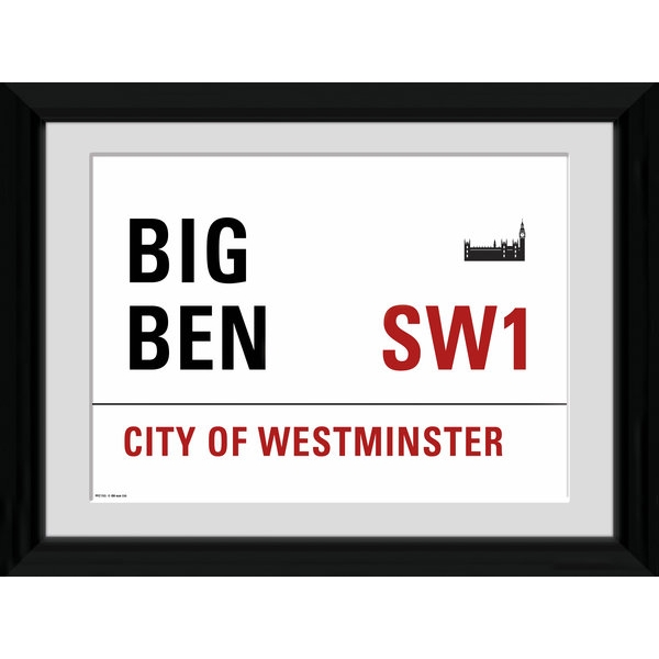 London Big Ben Framed 16x12 Photographic Print