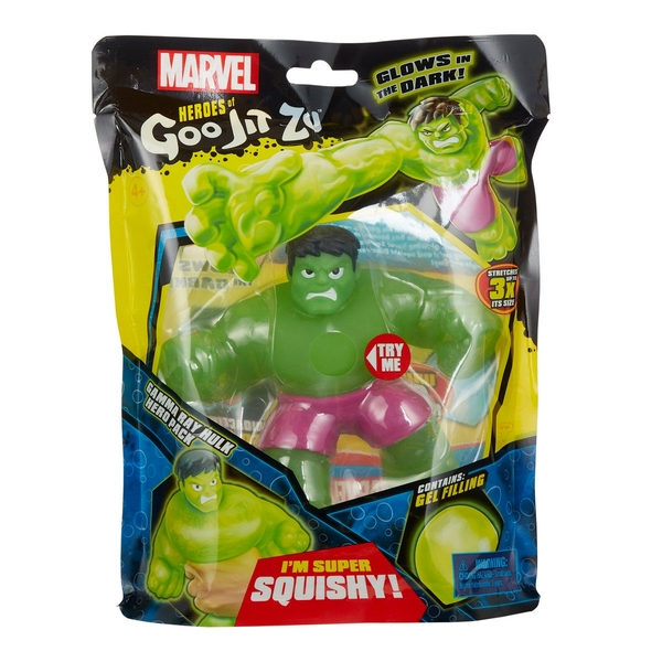 Glow In The Dark Hulk (Marvel) Heroes of Goo Jit Zu Figure - Image 1