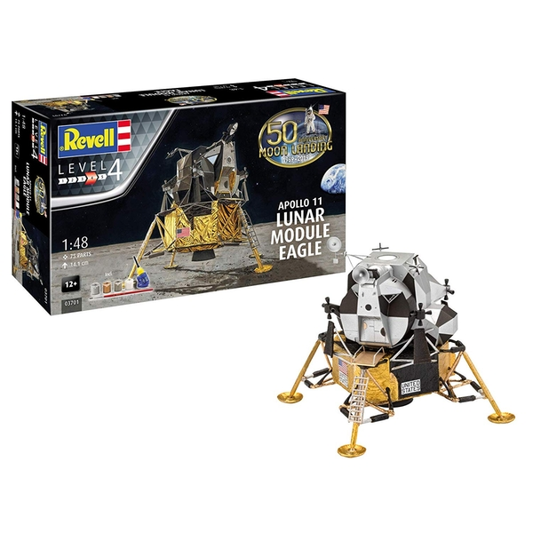 Apollo 11 Lunar Module Eagle 50th Anniversary First Moon Landing 1:48 Revell Model Kit