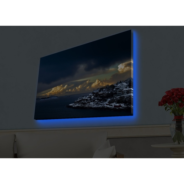 4570HDACT-063 Multicolor Decorative Led Lighted Canvas Painting