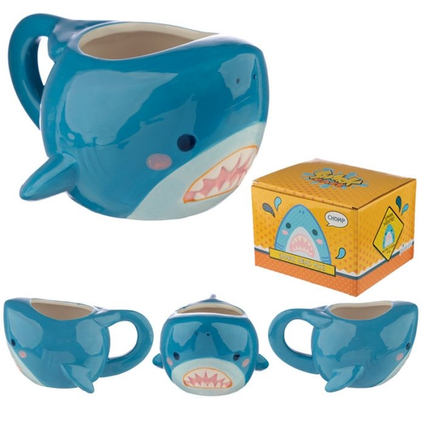 Fun Collectable Shark Head Ceramic Mug