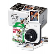 Fuji Instax Mini 70 Instant Camera White inc 10 Shots