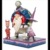 Lock Shock and Barrel with Santa Disney Traditions Figurine