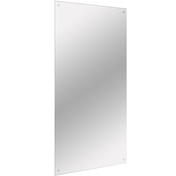 Frameless Rectangle Mirror | Includes Wall Hanging Fixings | M&W 450x600mm New