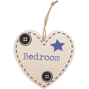 Bedroom Hanging Heart Sign
