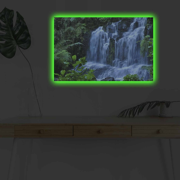 4570DHDACT-023 Multicolor Decorative Led Lighted Canvas Painting
