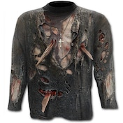 Zombie Wrap Allover Men's XX-Large Long Sleeve T-Shirt - Black