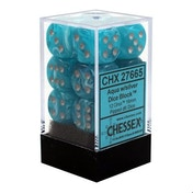 Chessex 16mm D6 Dice Block Cirrus - Aqua/silver