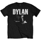 Bob Dylan - At Piano Men's XX-Large T-Shirt - Black