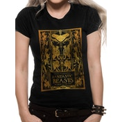 Crimes Of Grindelwald - Gold Foil Book Cover Women's Large T-Shirt - Black