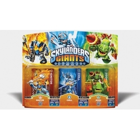 Chill, Zook, and Ignitor (Skylanders Giants) Triple Character Figure Pack B