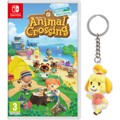 Animal Crossing New Horizons Nintendo Switch Game + Isabelle Keyring