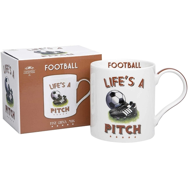 Football Fine China Mug By Lesser & Pavey