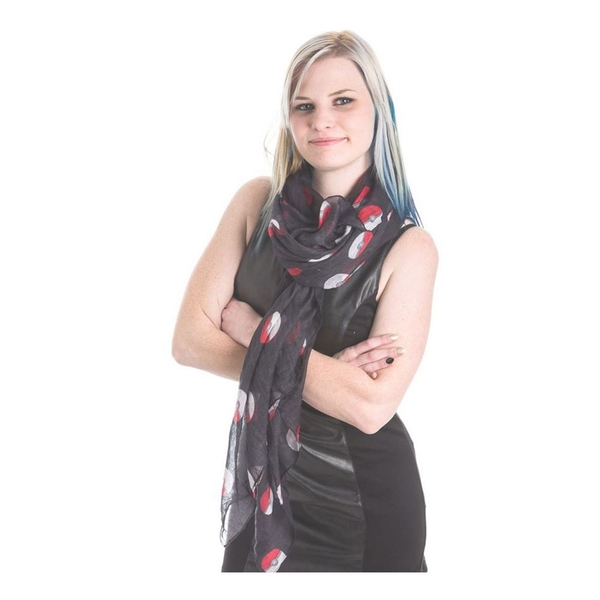 Pokemon - Poke Ball All-Over Print Unisex Scarf - Black
