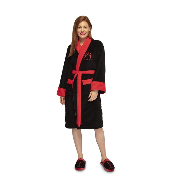 Friends You Are My Lobster Womens Black Robe - One Size