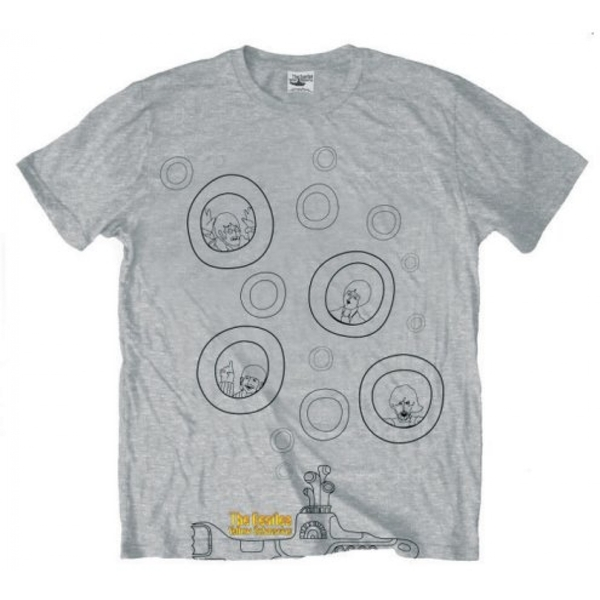 The Beatles - Bubbles Men's Large T-Shirt - Grey