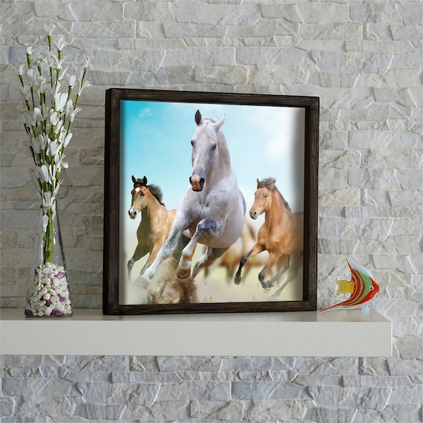 KZM554 Multicolor Decorative Framed MDF Painting