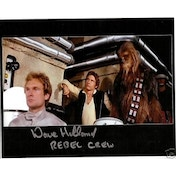 Star Wars Signed 10X8 Rebel Crew - Dave Holland