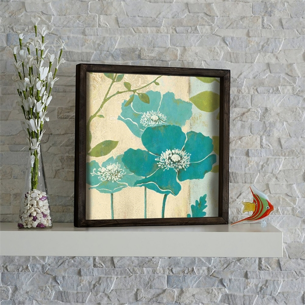 KZM430 Brown Green Beige Mint Decorative Framed MDF Painting