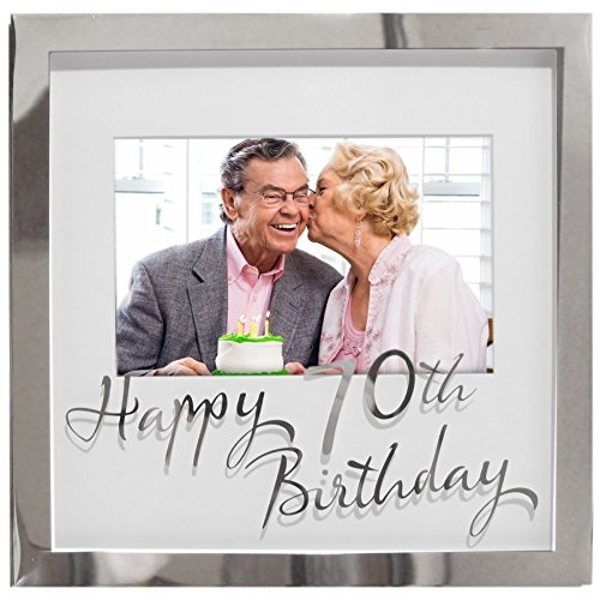 "6"" x 4"" - Birthdays by Juliana Silverplated Box Frame - 70th"