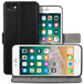 iPhone 8 Pu Leather Slim Wallet Stand Case - Black - Image 2