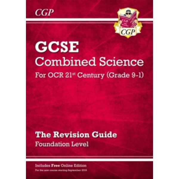 New Grade 9-1 GCSE Combined Science: OCR 21st Century Revision Guide with Online Edition Foundation by CGP Books (Paperback, 2016)
