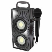 Lexibook BTP155BKZ iParty Mini Bluetooth Karaoke Tower with Microphone Black