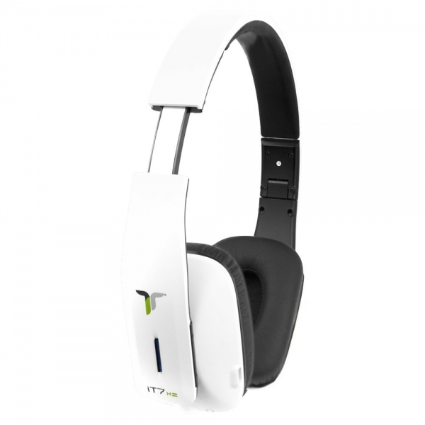 iT7x2 Foldable Wireless Bluetooth Headphones with Near Field Communication NFC White  - Image 2