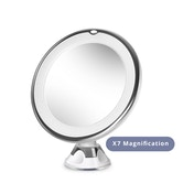 Circular Suction LED Mirror 7X Magnifying Green House